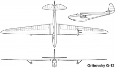 gribovsky12 3v model airplane plan