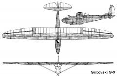 gribovsky c9 3v model airplane plan