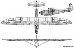 gribovskyc 9 model airplane plan