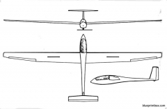 grob g 101 astir cs model airplane plan