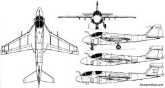 grumman a 6 intruder 1960 usa model airplane plan