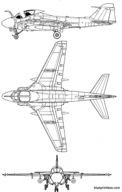 grumman a 6e intruder model airplane plan