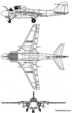 grumman a 6e intruder 3 model airplane plan