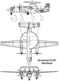 grumman e2c 3v model airplane plan