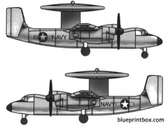 grumman e 2c hawkeye 2 model airplane plan