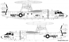grumman e 2c hawkeye 2000 model airplane plan