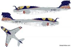 grumman ea 6b prowler 3 model airplane plan