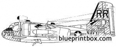 grumman ec 1a jamming trader model airplane plan