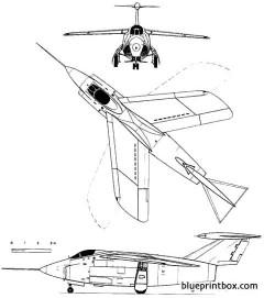 grumman f10f jaguar model airplane plan