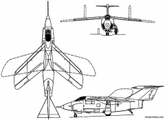 grumman f10f jaguar 1952 usa model airplane plan