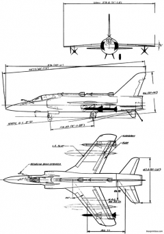 grumman f11f 1f tiger 7 model airplane plan