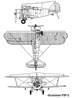 grumman f3f2 3v model airplane plan