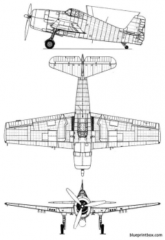 grumman f6f3 hellcat model airplane plan