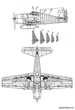 grumman f6f3 hellcat 2 model airplane plan