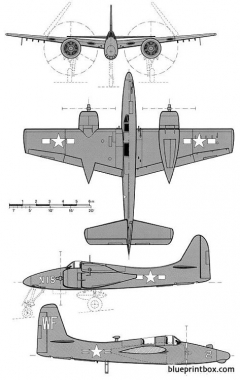 grumman f7f 2n 3n tigercat 2 model airplane plan