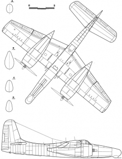 grumman f7f 3n tigercat 2 model airplane plan