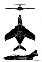 grumman f9 f8 cougar model airplane plan