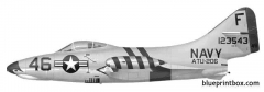 grumman f9f 2 panther 4 model airplane plan