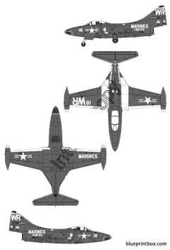 grumman f9f 4 panther model airplane plan