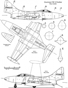 grumman f9f 5 panter 2 model airplane plan