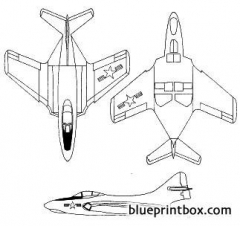 grumman f9f 6 cougar model airplane plan
