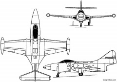grumman f9f panther 1947 usa model airplane plan