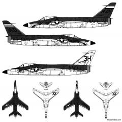 grumman f 11f 1 tiger model airplane plan