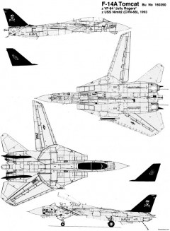 grumman f 14 tomcat 3 model airplane plan