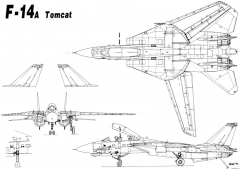 grumman f 14 tomcat 6 model airplane plan