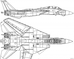 grumman f 14 tomcat 8 model airplane plan