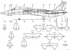 grumman f 14 tomcat 9 model airplane plan