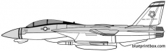grumman f 14a tomcat model airplane plan