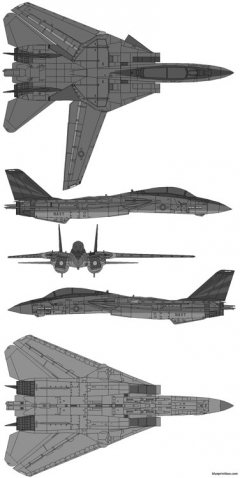 grumman f 14a tomcat 02 model airplane plan