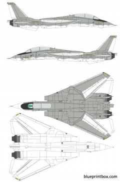grumman f 14a tomcat 2 model airplane plan