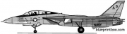 grumman f 14a tomcat 7 model airplane plan