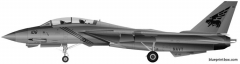 grumman f 14b tomcat model airplane plan