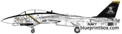 grumman f 14b tomcat 2 model airplane plan