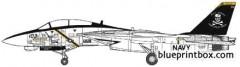 grumman f 14b tomcat 2 model airplane plan