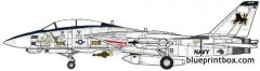 grumman f 14d super tomcat 3 model airplane plan