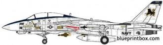 grumman f 14d super tomcat 3 model airplane plan