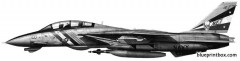 grumman f 14d tomcat model airplane plan