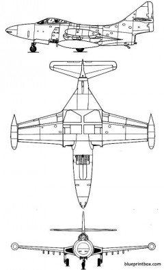 grumman f 9f panther model airplane plan