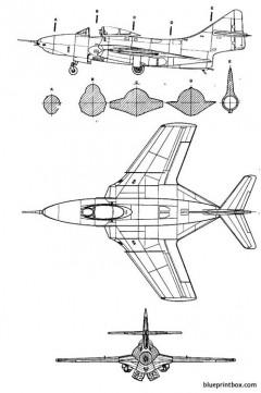 grumman f 9j cougar model airplane plan