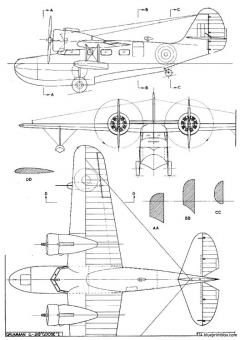 grumman goose sp model airplane plan
