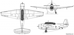 grumman tbf 1c avenger model airplane plan