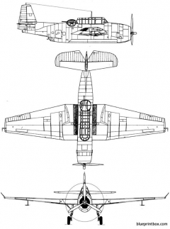 grumman tbm avenger model airplane plan