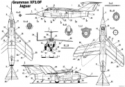 grumman xf10f jaguar model airplane plan