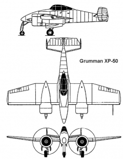 grumman xp50 3v model airplane plan