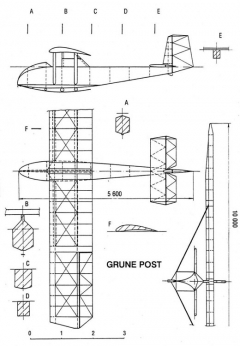 grunepost 3v model airplane plan