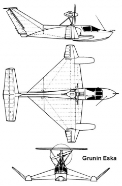 grunin 3v model airplane plan